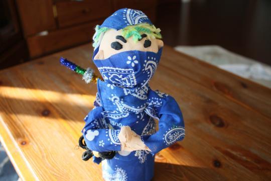 長男が作った忍者の人形