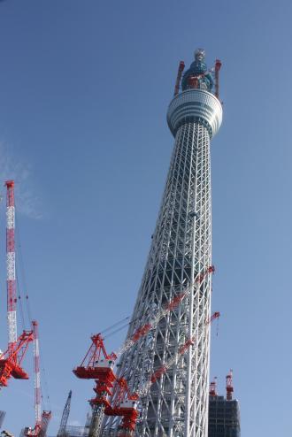 車窓から撮った東京スカイツリー