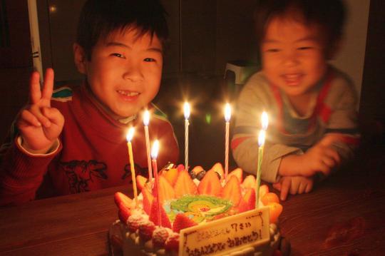 長男の7歳の誕生日