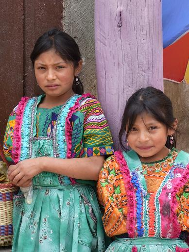 sisters in traditional dress