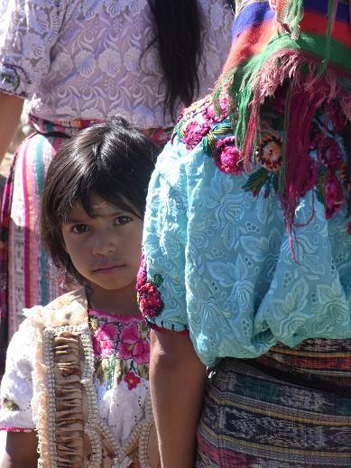a girl at a market