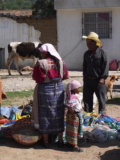 a family at the market