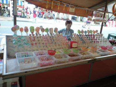 甲子祭り飴屋台