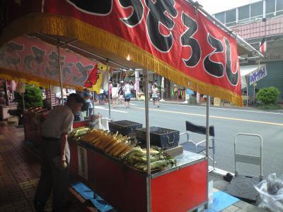 甲子祭り 焼きもろこし屋台
