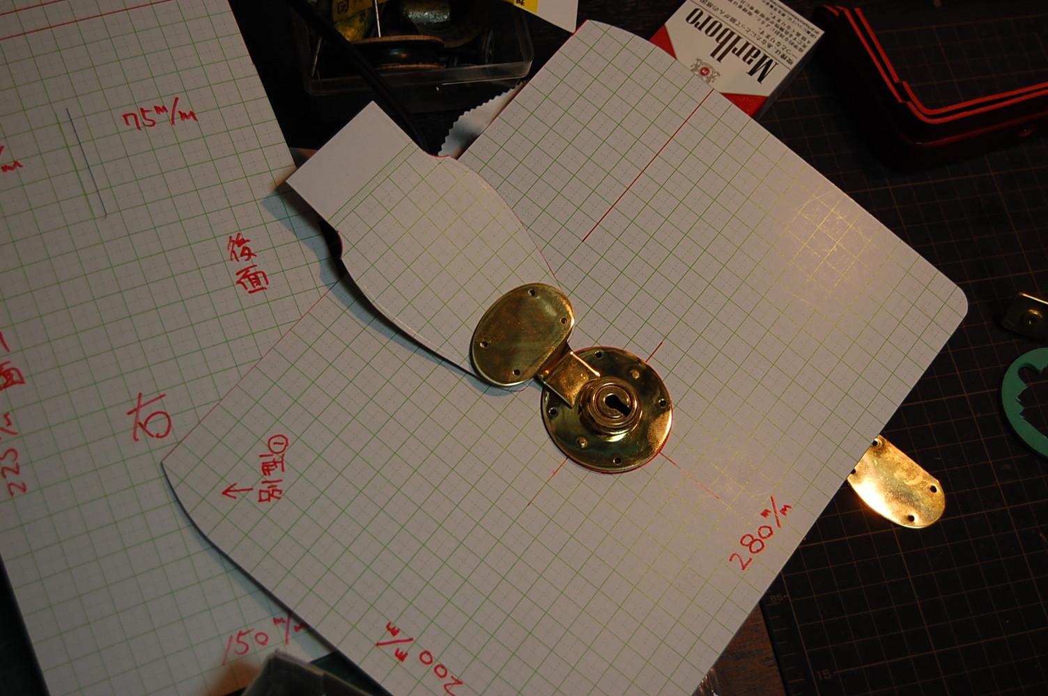 型紙と金具