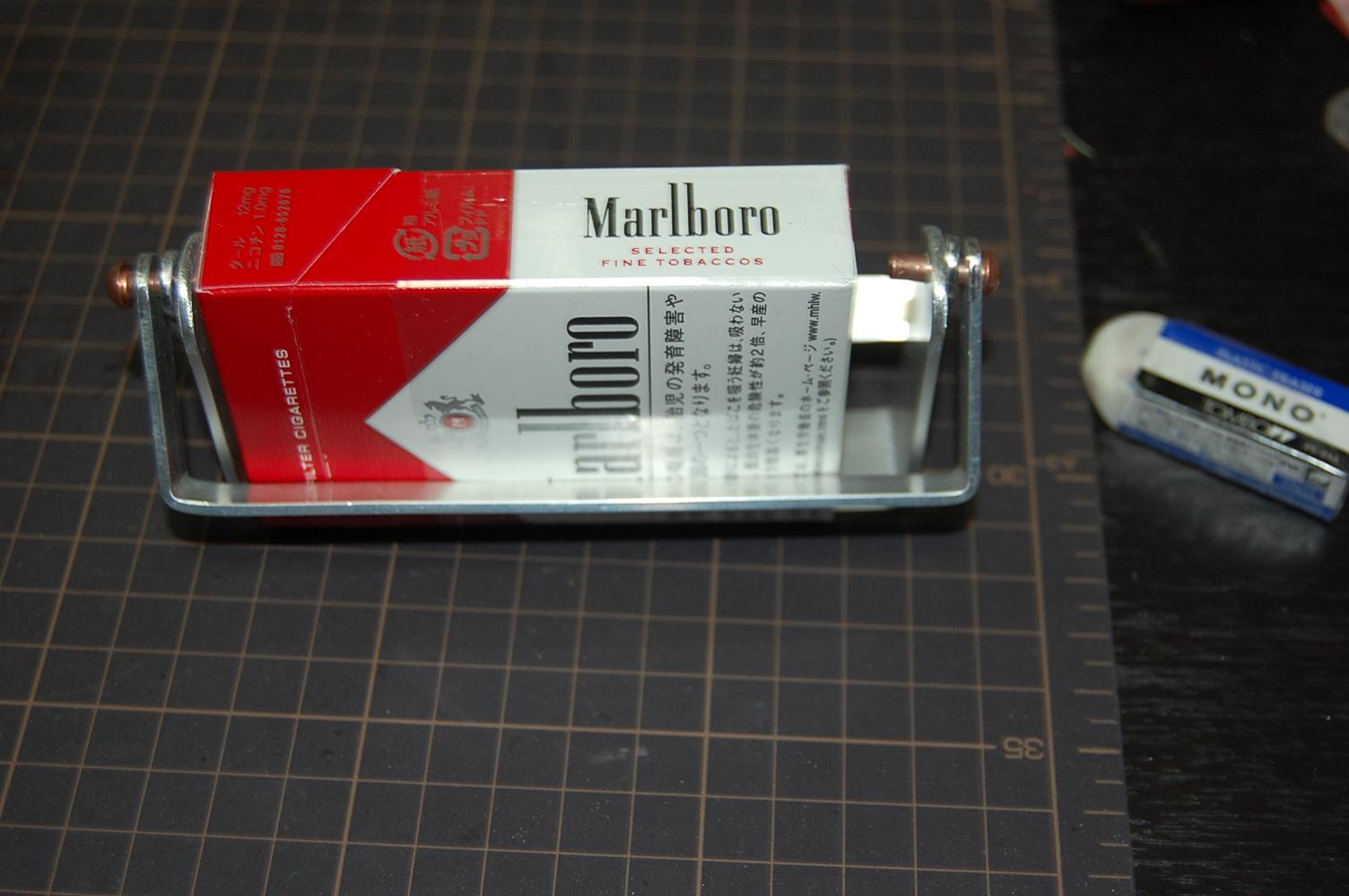 タバコを載せると