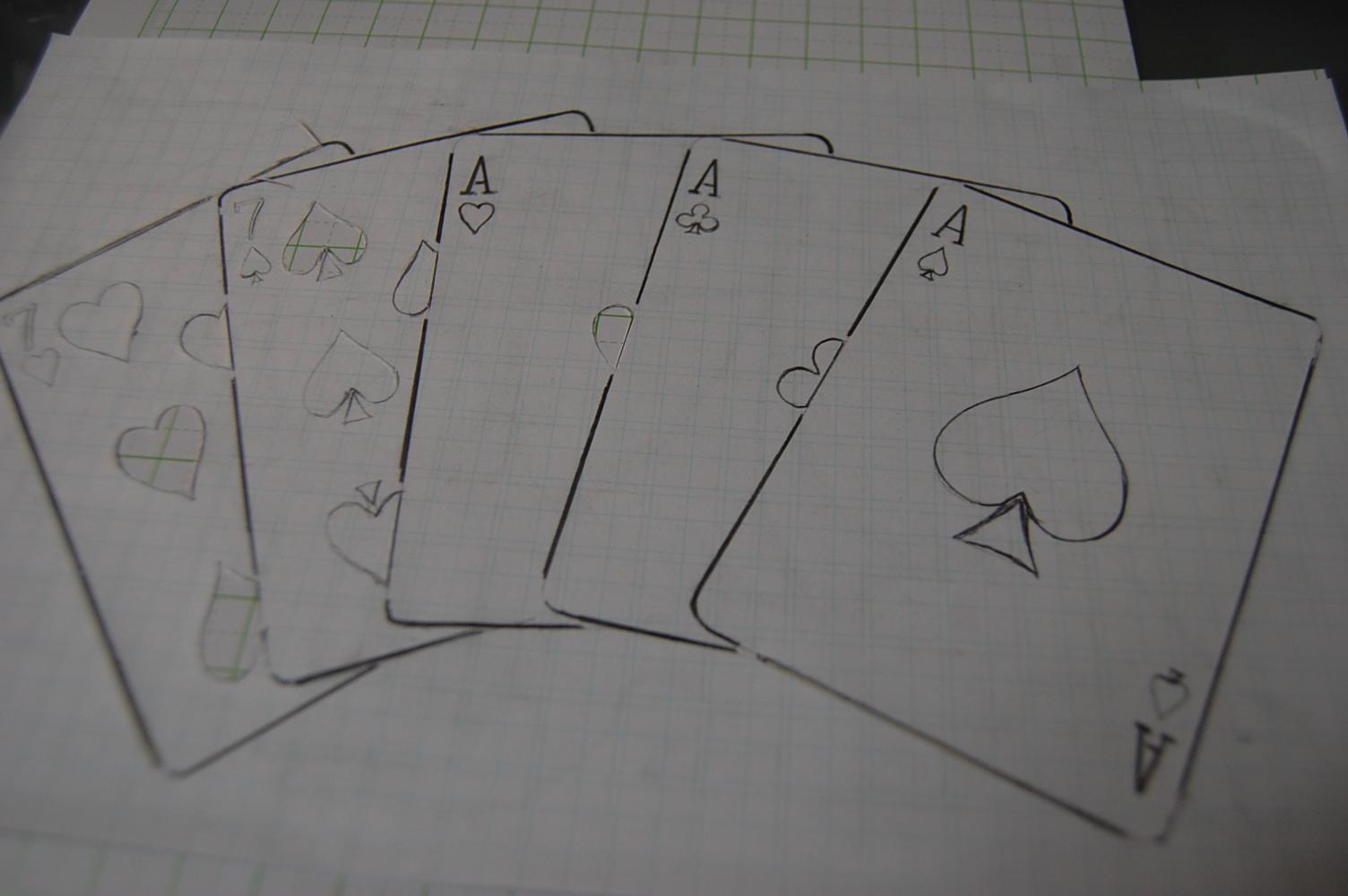 ポーカーステンシル