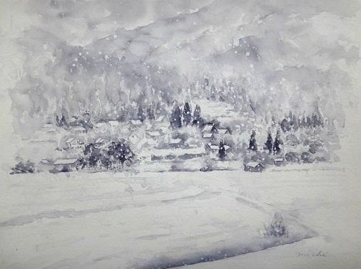 大原雪景色2014D