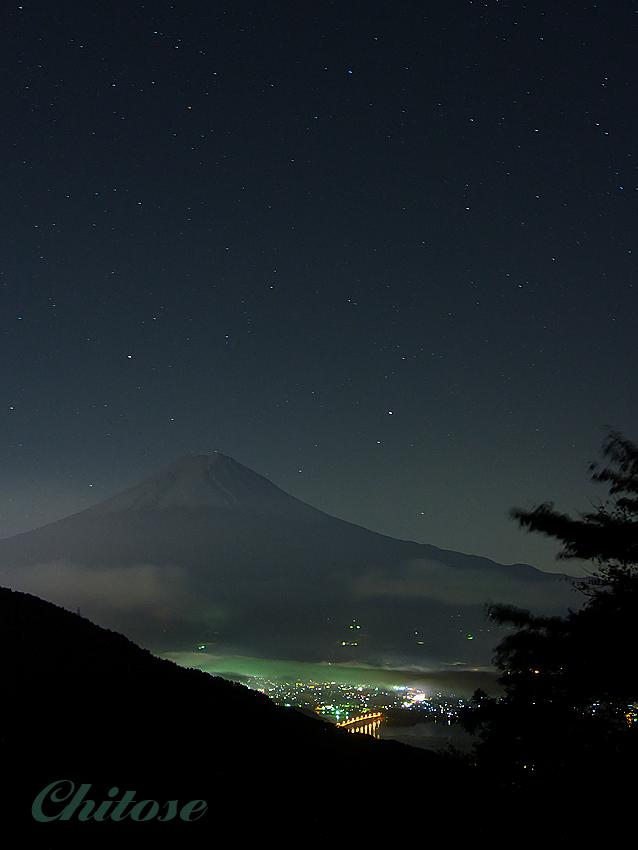 天下茶屋からの富士