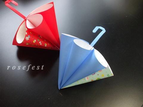 クリスマス 折り紙:折り紙 傘-rosefest.blog3.fc2.com