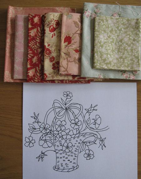 昔の刺繍図案