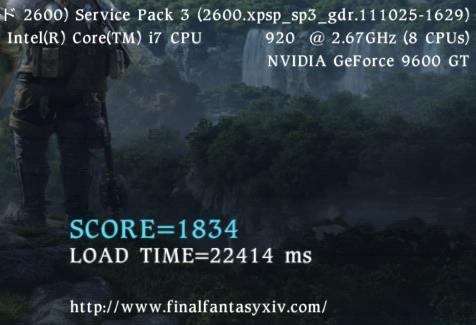 FFXIVベンチ旧PC