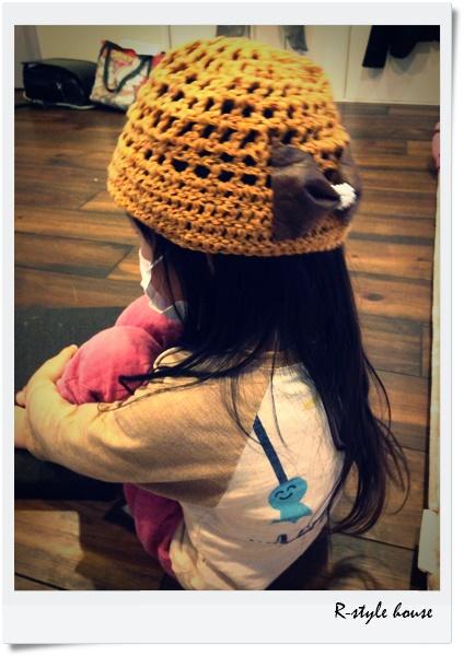手作りニット帽
