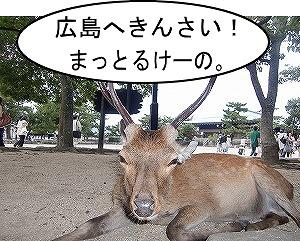 鹿のあいさつ