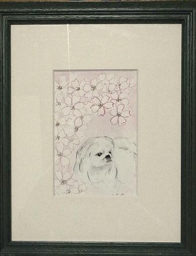 桜とまめの絵