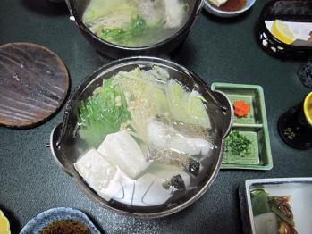 20101104夕飯鱈のちり鍋