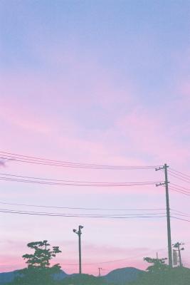 夕空@福島市(イオン駐車場より)