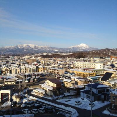 冬の磐梯山(会津若松市より)