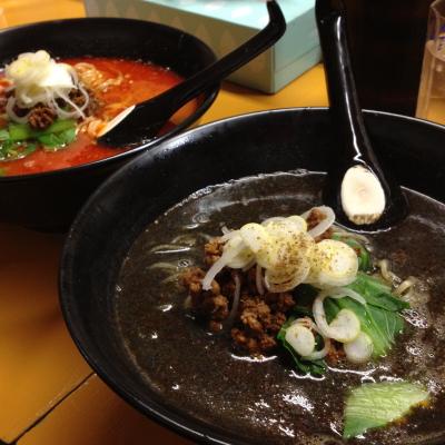 黒ゴマ担々麺&四川担々麺@皆川食肉店