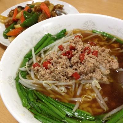 台湾ラーメン&酢豚&炒飯@「台湾料理 中源」
