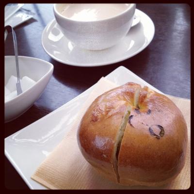 ピスタチオのベーグル&@オセロカフェ