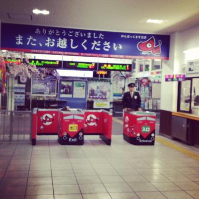お見送り@会津若松駅