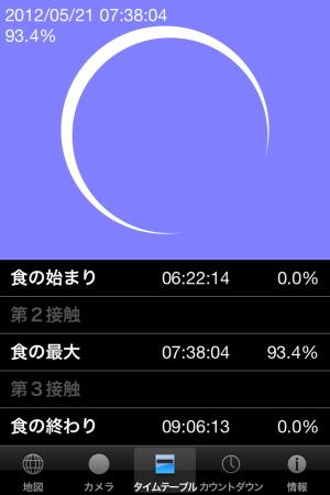 【アストロアーツ 金環アプリ12】日食@福島県会津若松市(2012/05/21)
