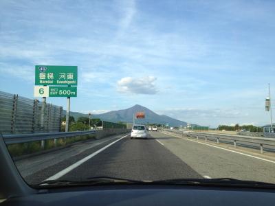 磐梯河東インター付近
