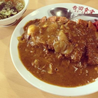 カツカレー@吉田食堂