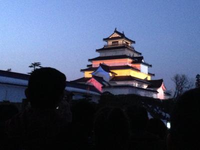 鶴ヶ城プロジェクションマッピング「はるか」