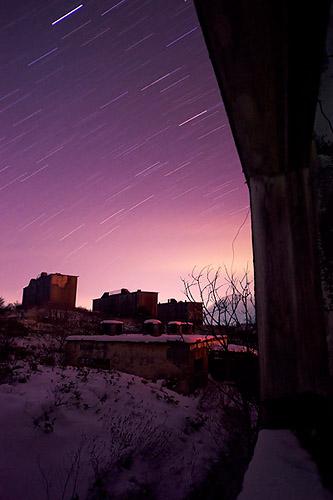 廃墟 松尾鉱山夜間撮影01