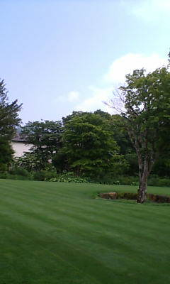 ラリック美術館の中庭