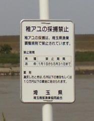 荒川禁止看板