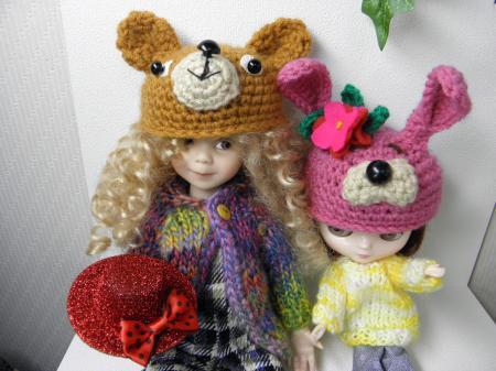 P2020130_convert_20140202124740熊とウサギ帽子横長