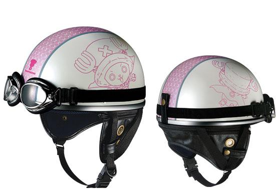 ワンピースヘルメット 白ピンク