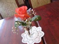 テーブルのお花 アップ