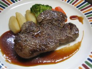 @5000円フルコース メイン2 牛ロースステーキ