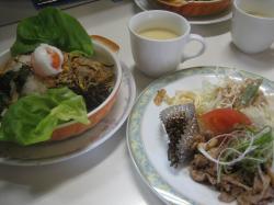 洋風ビビンバ&豚焼肉()