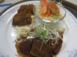 ごぼうハンバーグ&マグロフライ()