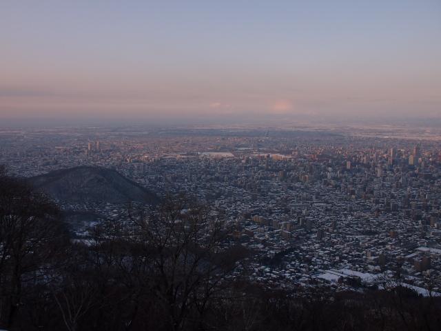 藻岩山山頂から望む夕景