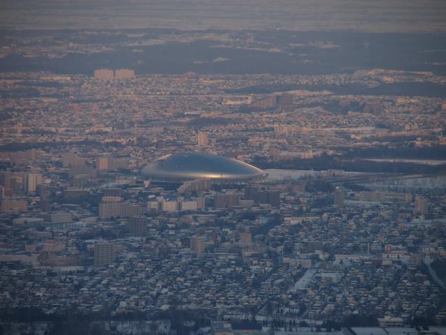 藻岩山山頂から望む札幌ドーム