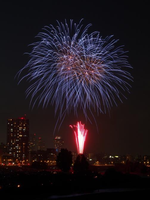 豊平川道新・UHB花火大会2012