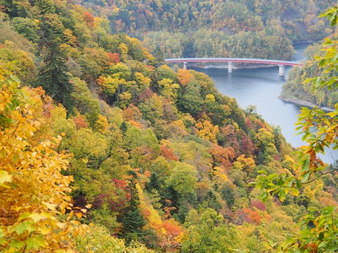 さっぽろ湖と紅葉