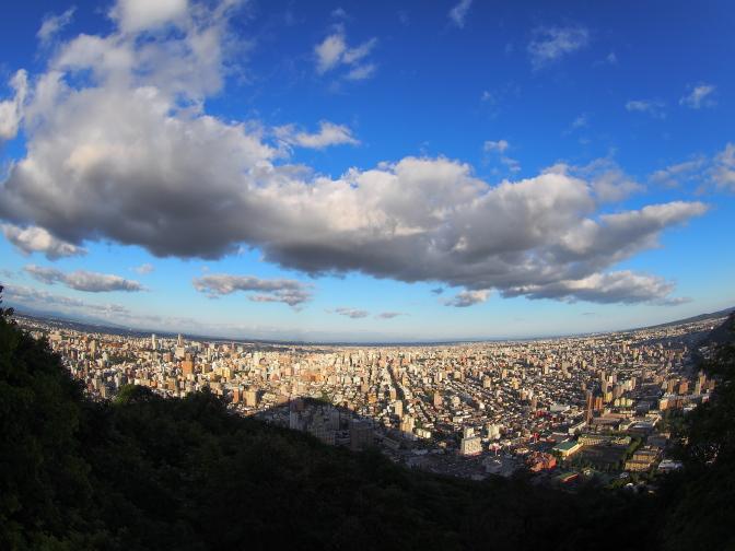 山頂から望む札幌市街
