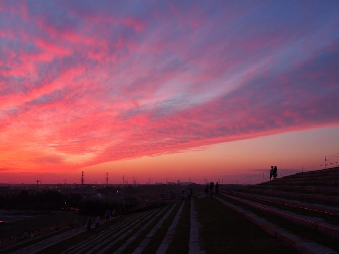 モエレ沼公園の夕日