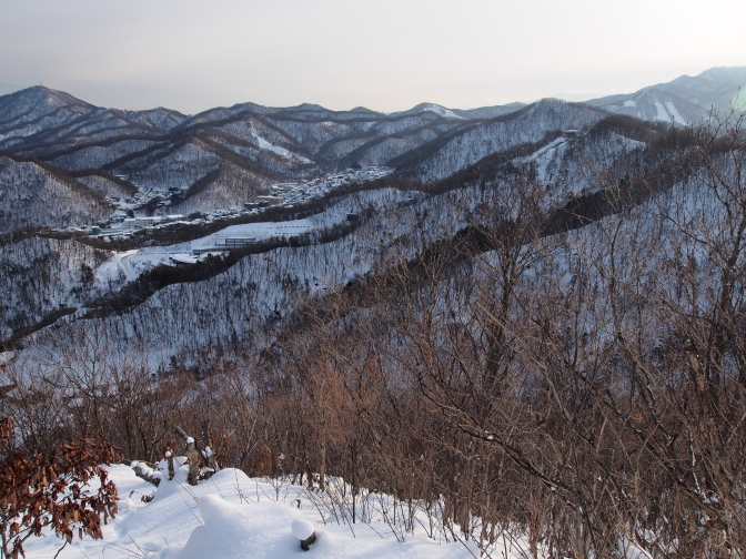大倉山・宮の森ジャンプ台方面
