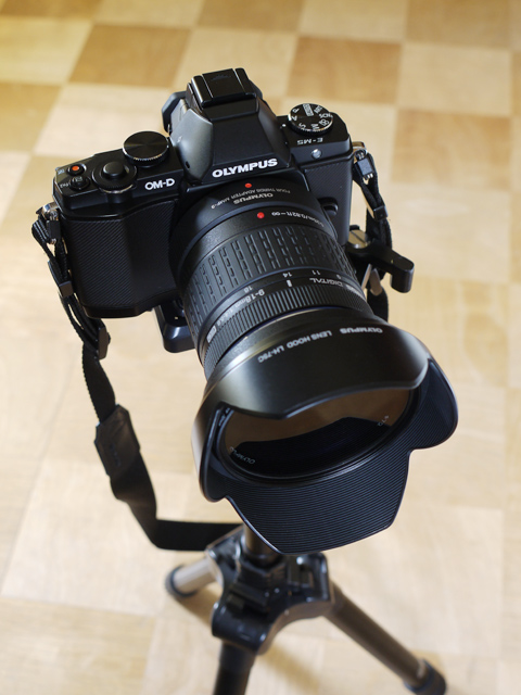 E-M5とZUIKO DIGITAL ED 9-18mm F4.0-5.6