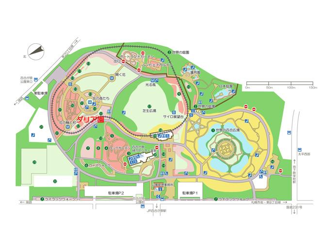 百合が原公園内マップ