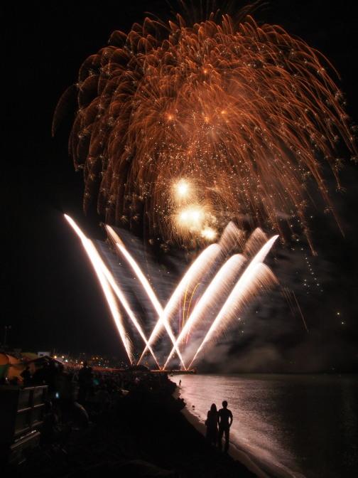 銭函サンセットビーチ祭り花火大会2012