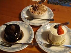文明堂のケーキ3つ
